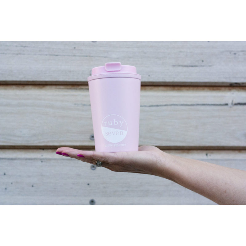 Ruby Seven Reusable Coffee Cups 350ml - 3 Colours