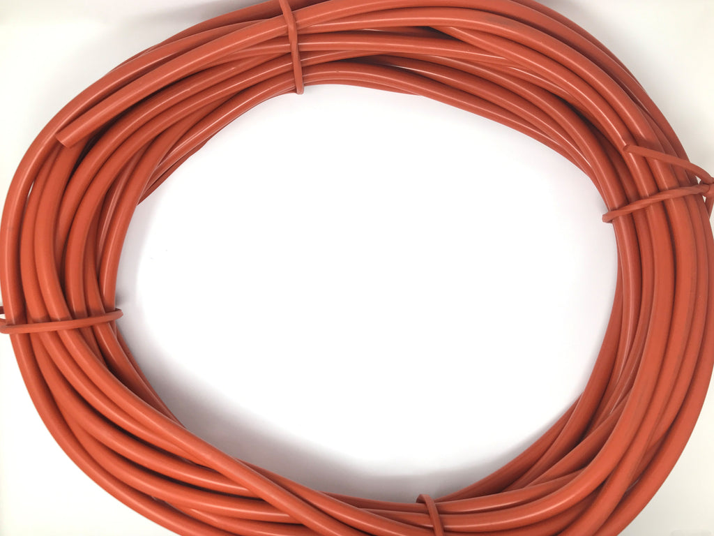 "7/16"" Diameter Stock Silicone Rubber Round Cord 100 Feet - 70 Durometer - Red"