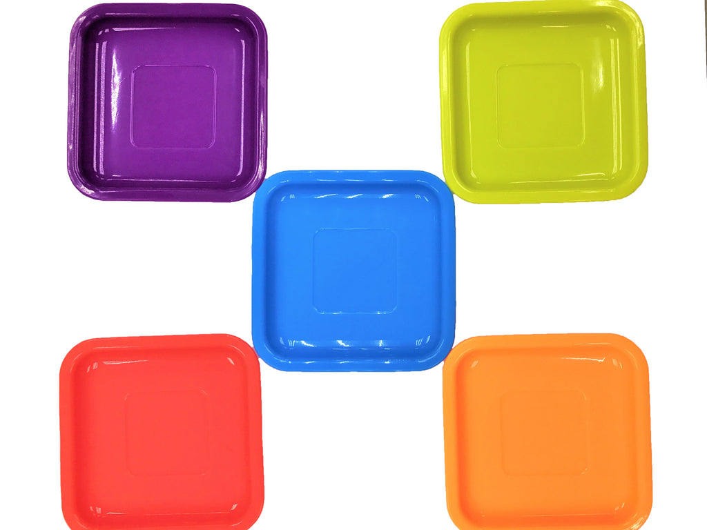 Reusable Silicone Square Dish 6 Inch 10 x 2 pcs Set