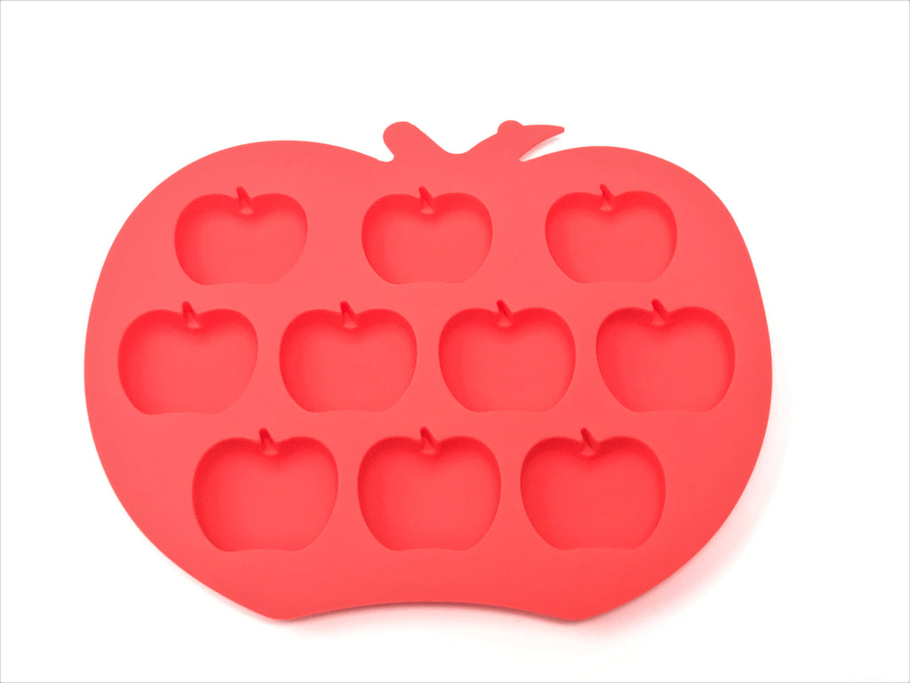 Silicone Apple Shape Ice Mold Tray - 25 pcs