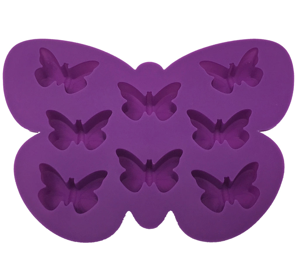 Silicone Butterfly Shape Ice Mold Tray - 10 x 2 pcs set