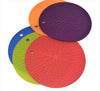 Silicone Round Spider Mat, Pot Holder, Trivet, Jar Opener, Non Slip Heat Reistant Hot Pad - 6 x 4 pcs  Set