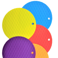 Silicone Round Knit Cup Hot Pad 5 x 4 Pcs Set