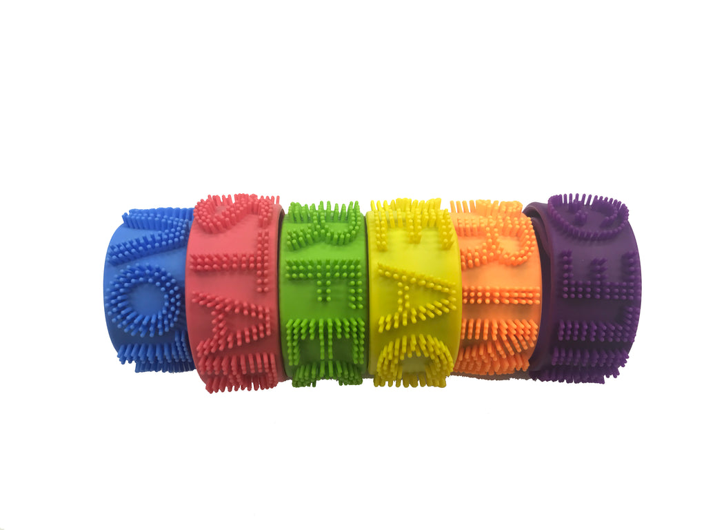 Fancy looking Silicone Wrist Strap 54 Pcs Jar