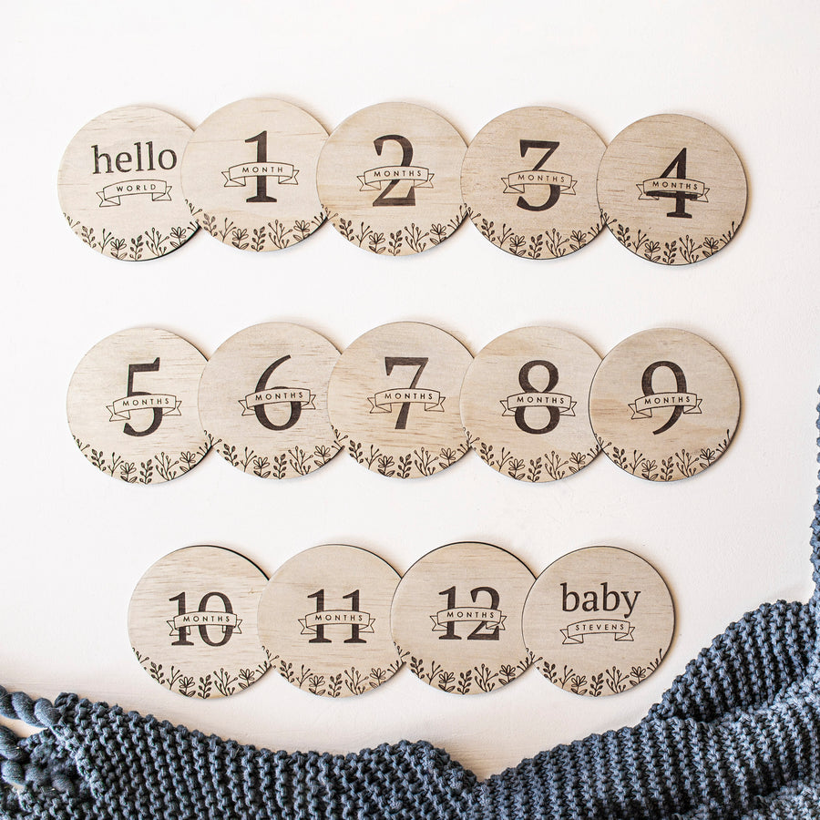 Baby Milestone Cards | Set of 13 - Floral Collection