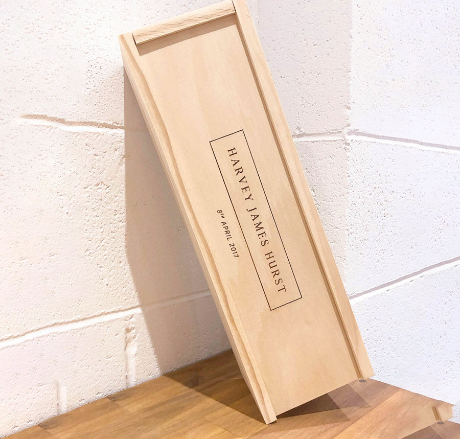 Winebox | Slide | Wood Lid