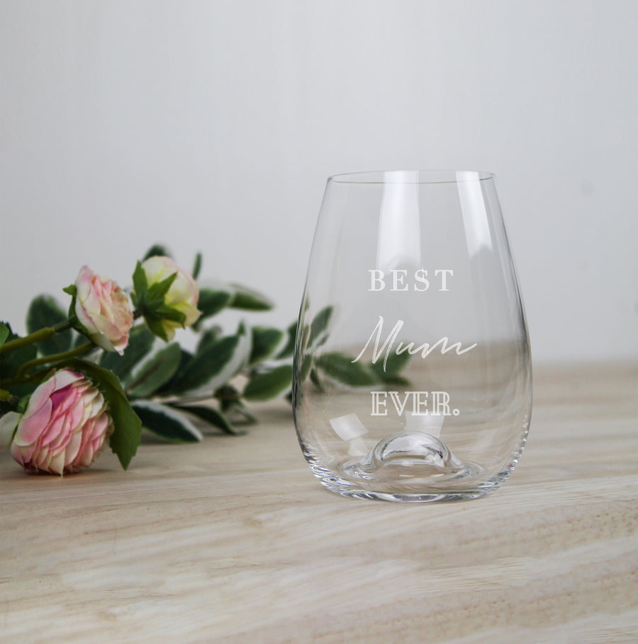 Mother's Day Stemless Wine Glass