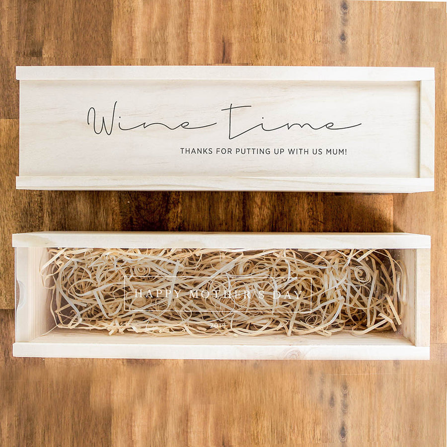 Mother's Day Winebox | Slide | Wood Lid