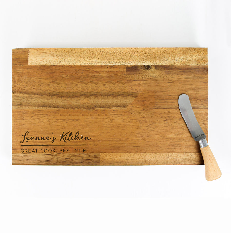 Mother's Day Chopping Board | Acacia - Stained