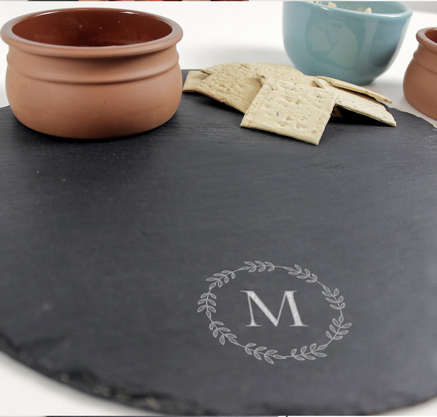 Round Serving Board | Slate