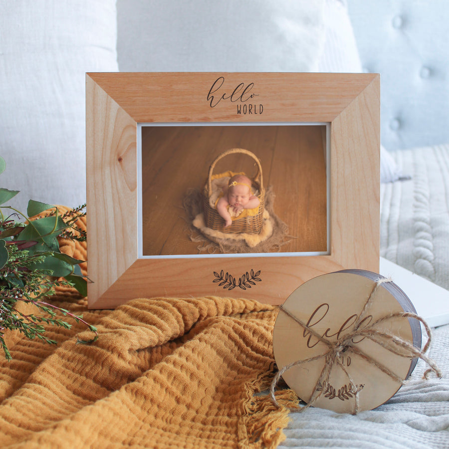 Baby Bundle | Milestone Card Set and Photo Frame