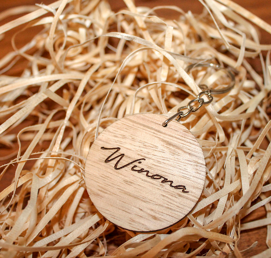 Timber Keychain | Victorian Ash
