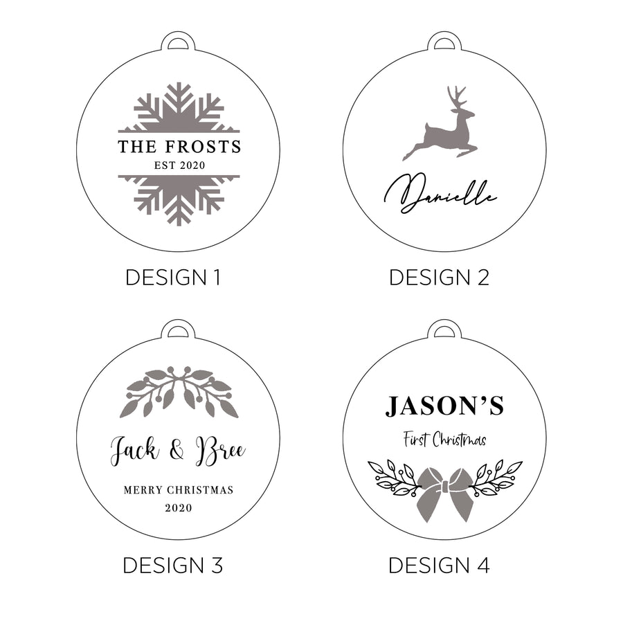 Christmas Ornament | Wooden Bauble | Premium Collection