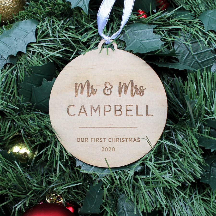 Christmas Ornament | Wooden Bauble
