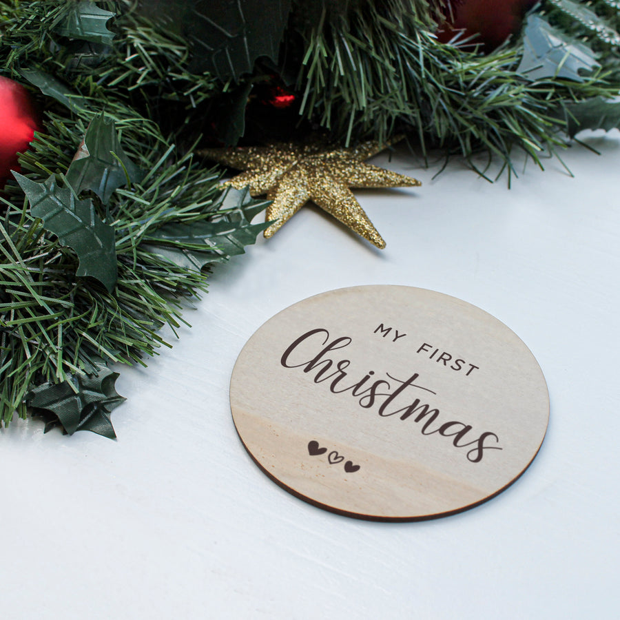 Baby Milestone Card | My First Christmas