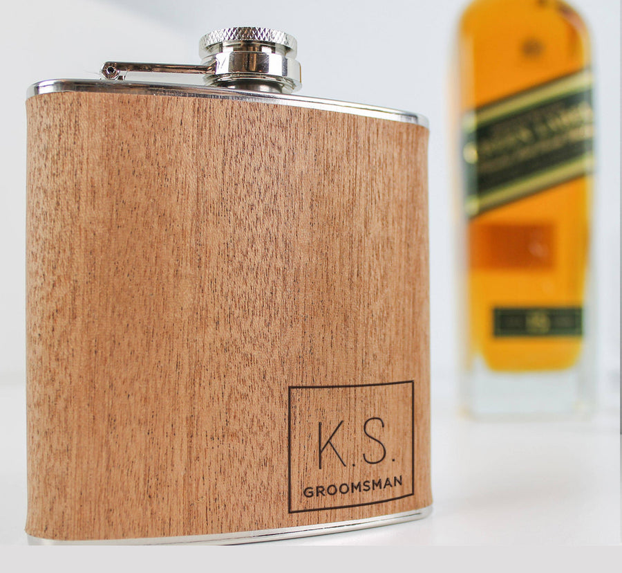 Wooden Hipflask