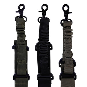 Nylon Sling Strap Tactical 1 Single Point Adjustable Bungee Rifle Gun Sling System Strap Hook new arrival
