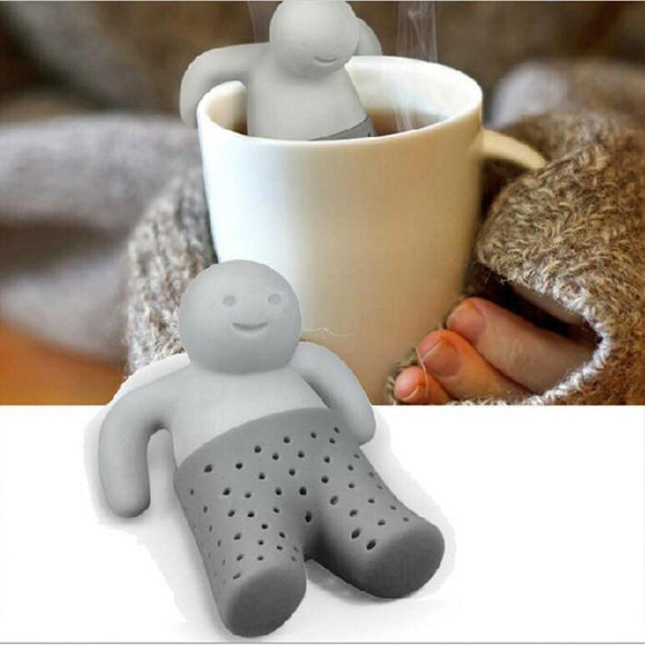Tea Strainer Interesting Life Partner Cute Mr Teapot Silicone Tea Infuser Filter Teapot for Tea & Coffee Filter Drinkware