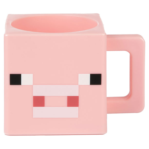 Cana de plastic Minecraft Pig Face,  250 ml