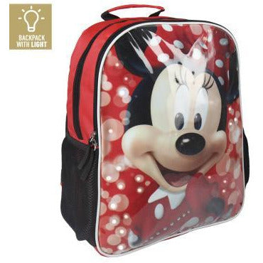 Ghiozdan Minnie Mouse, LED, ORIGINAL, 40 cm
