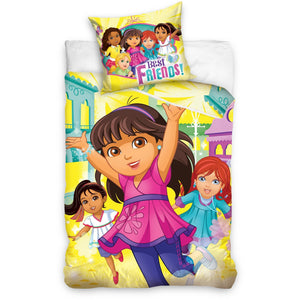 Lenjerie de pat Dora the Explorer, ORIGINALA, licenta Carbotex
