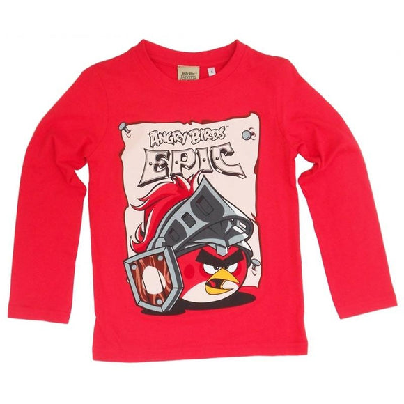 Tricou cu maneca lunga, Angry Birds Epic, rosu, ORIGINAL, Fashion UK