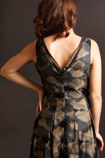 The Graphite Falls Dress