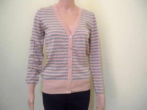 Stripped short cardigan