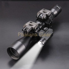 5 in 1, 3-9 X 40 Hunting Scope With Dot Sight, Tactical Laser And Flashlight