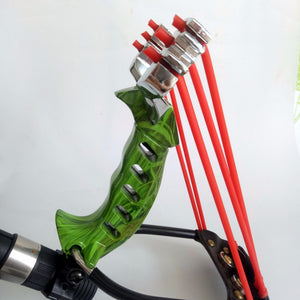 Aluminium Powerful Hunting Sling Shot, options with ball bearings or Darts.