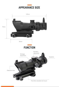 ACOG 1 X 32 Hunting Scope, Illuminated Sight with Red/Green dot. 20mm Rail Mount