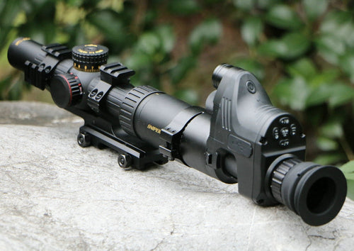 6 X 24 Rifle Scope With Optional Night Vision Monocular Attachment.