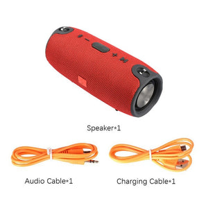 High Power 40W Bluetooth Speaker Waterproof Portable Column Super Bass Stereo For Comuter PC Speakers with FM Radio BT AUX TFusb