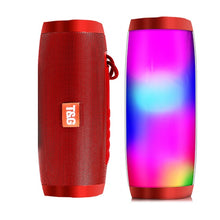 Portable Speakers Bluetooth Column Wireless Bluetooth Speaker Powerful High BoomBox Outdoor Bass HIFI TF FM Radio with LED Light