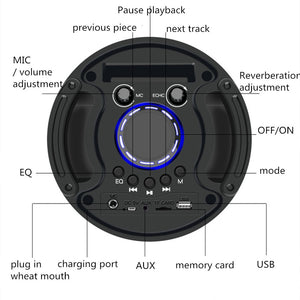 Acoustic system BT speaker USB Bluetooth combo speaker amplifier sound subwoofer outdoor suitcase microphone speakers FM sound