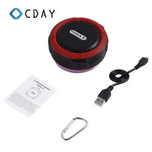 OCDAY C6 Waterproof Outdoor Bluetooth Speaker IPX7 Portable Wireless Stereo Loudspeaker Shower Bicycle Speakers with Suction Cup