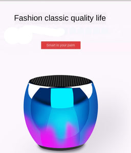 Intelligent AI Voice Recognition Bluetooth Speaker M1 Metal Case Mini Bluetooth Speaker AI Voice Bluetooth Gradient Audio Trend