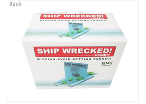 Ship Wrecked Drinking Game with 6 Shot Glasses And Gift Box.