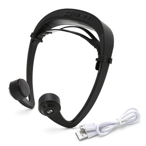 V9 Bone Conduction Sports Headphone With Mic And Adjustable headband For Android and IOS Smartphone.
