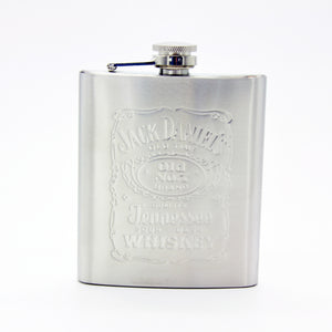 7oz Stainless Steel Hip Flask Set With Two Shot Glasses And Funnel.