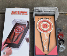 Sling Shot Drinking Game With 4 Shot Glasses.