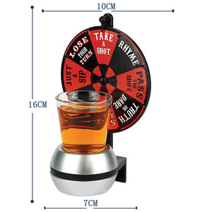 Spin For A Shot Drinking Game, wheel and shot glass holder.