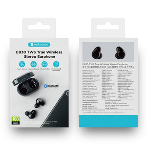 ROCK Bluetooth Series Sports Wireless in-Ear Stereo Earbuds with mic And Charging Battery Box