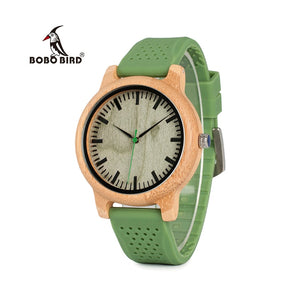 Wooden Watch with Silicone Band.