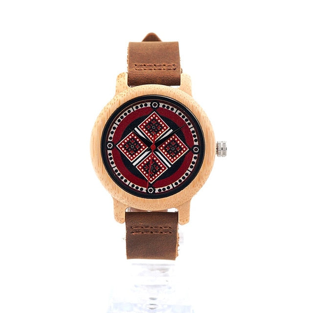 Ladies Quartz Classic Wooden Wrist watch