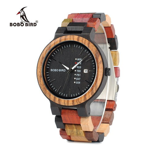 Luxury Wooden Watch with LED Display.