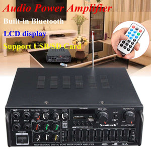 bluetooth 2.0 Channel 2000W Audio Power HiFi Amplifier