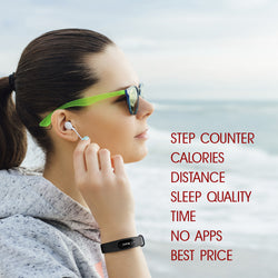 NAKOSITE PB2433 Best Fitness Tracker, Pedometer, Step Counter, Calorie Counter, Distance, Sleep Monitor. PREMIUM