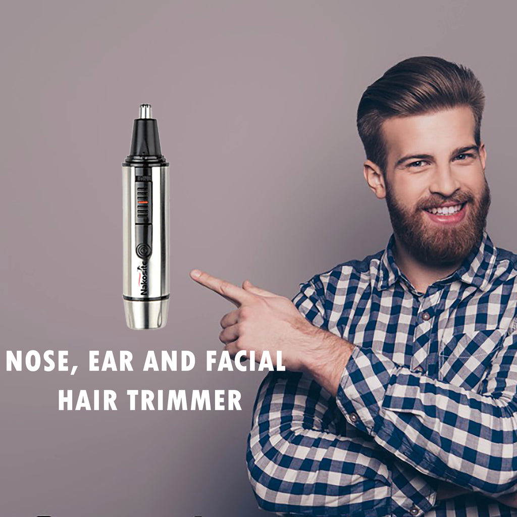 NAKOSITE NT2433 Best Nose Ear Hair Trimmer with LED Light. PREMIUM