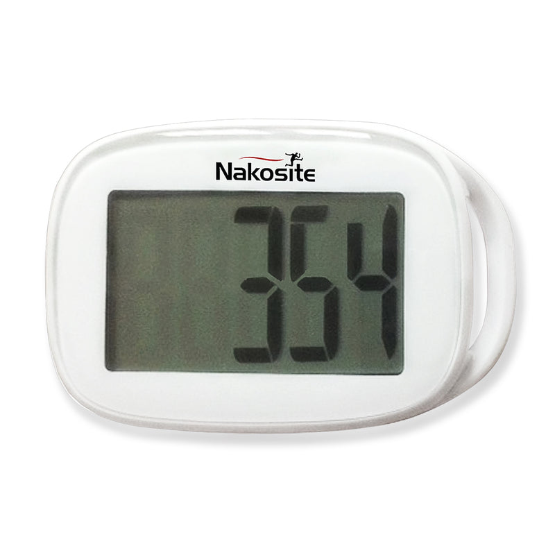 NAKOSITE Best Walking 3D Simple Pedometer with Strap. Accurate Step Counter ONLY. PREMIUM